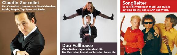 Claudio Zuccolini, Duo Fullhouse und SongReiter