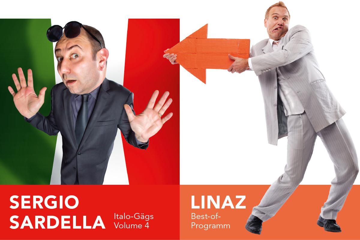 SLF Comedy, Reichenbach: Sergio Sardella und Linaz